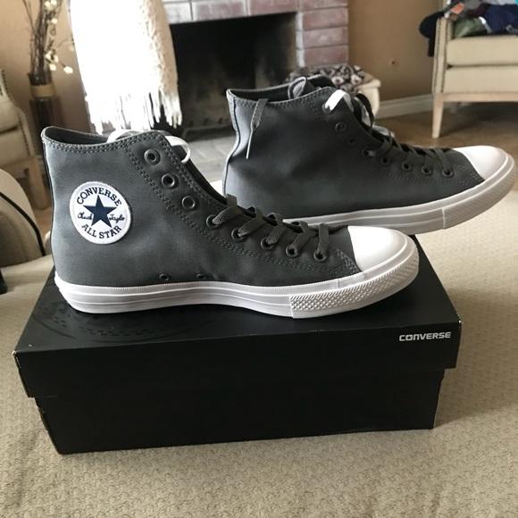 New Converse Gray High Tops Sz 1 Chuck